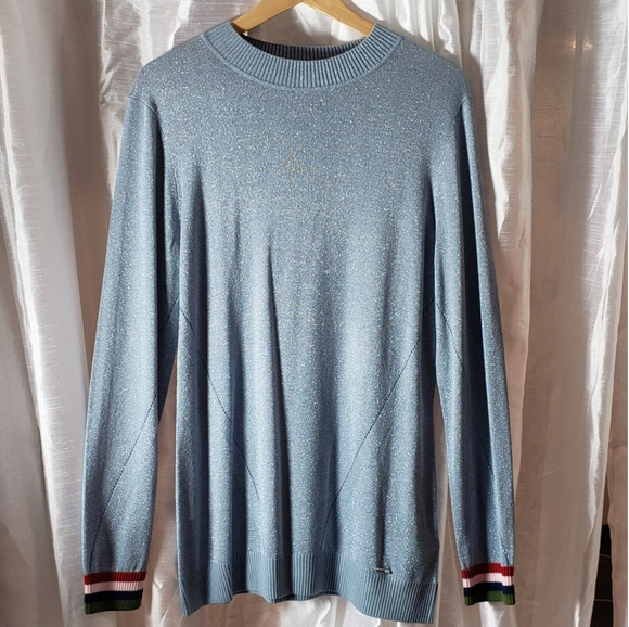 Ted Baker Metallic Ice Blue Casual Sweater